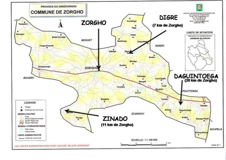 carte Zorgho