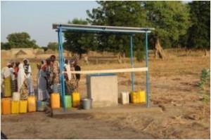 Inauguration de la borne fontaine