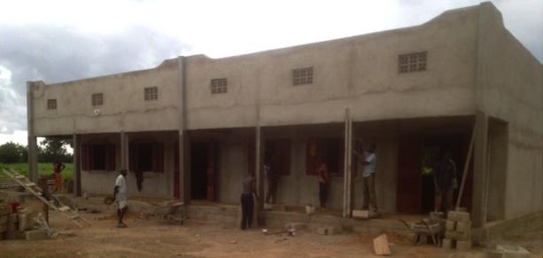 Etat d'avancement du chantier du collège au 14 août 2015